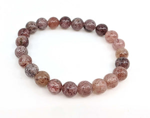 Strawberry Quartz 8mm Stretch Bracelet