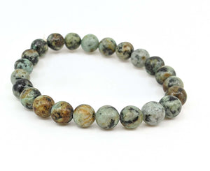 African Turquoise (Jasper) 8mm Stretch Bracelet