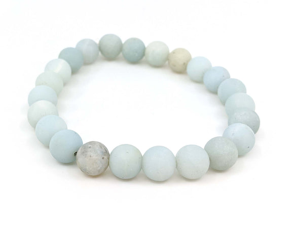 Amazonite Matte Finish 8mm Stretch Bracelet