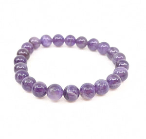 Amethyst 8mm Stretch Bracelet