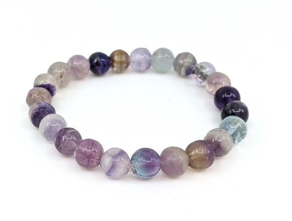Rainbow Fluorite 8mm Stretch Bracelet