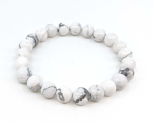 Howlite 8mm Stretch Bracelet