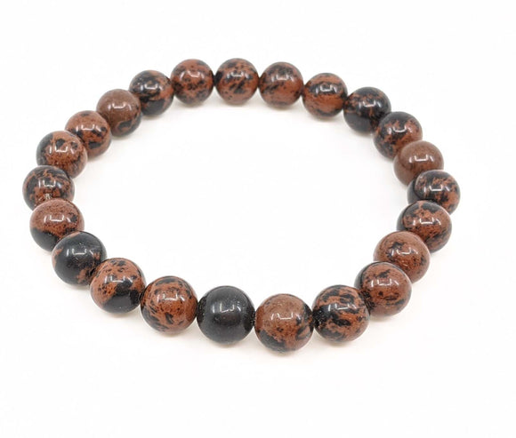 Mahogany Obsidian 8mm Stretch Bracelet