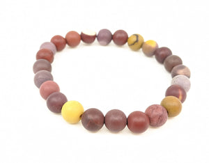 Moukite 8mm Matte Finish Stretch Bracelet