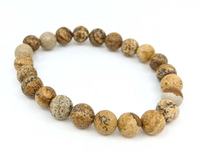 Picture Jasper 8mm Stretch Bracelet