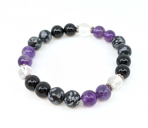 Protection Multi Gemstone 8mm Stretch Bracelet