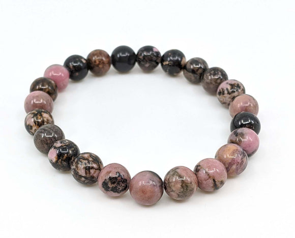 Rhodonite 8mm Stretch Bracelet