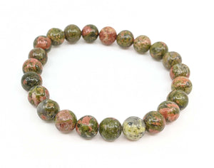 Unakite 8mm Stretch Bracelet