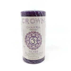 Crystal Journey Chakra Pillar Candle - Crown