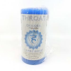 Crystal Journey Chakra Pillar Candle - Throat