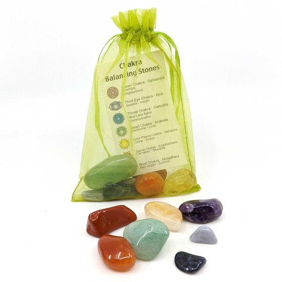 Chakra Energy Stone Pouch