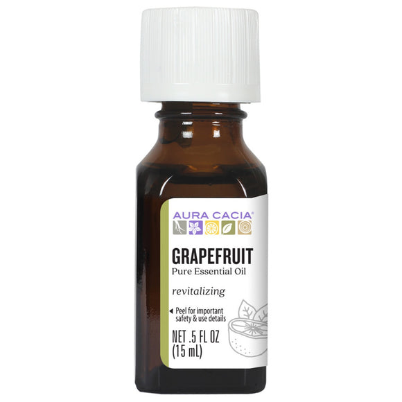 Aura Cacia Grapefruit Essential Oil 0.5 fl. oz.