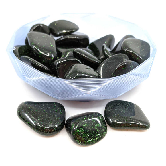 Green Goldstone Tumble Polished 1pc.