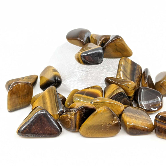 Tigers Eye Tumble Polished 1pc.