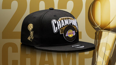 Youth Los Angeles Lakers 2020 NBA Finals Champions New Era Black - Locker Room 9FIFTY Snapback Adjustable Hat