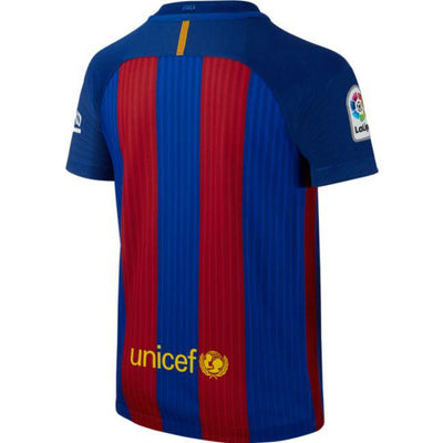Youth Barcelona Nike 2016/17 Home Replica Stadium Jersey - Blue
