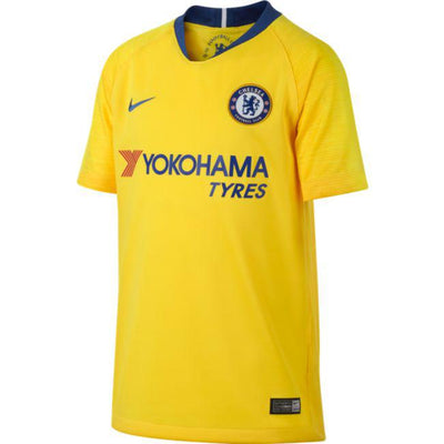 Youth Chelsea Nike 2018/19 Away Stadium Replica Patch Jersey - Yellow
