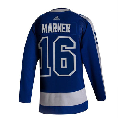 Toronto Maple Leafs Mitch Marner adidas Blue 2020/21 - Reverse Retro Player Jersey - Men's