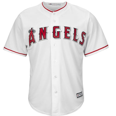 Los Angeles Angels Majestic Cool Base Home White Replica Jersey
