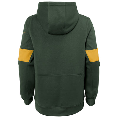 Youth Nike Green Bay Packers On-Field Performance - Pullover Hoodie
