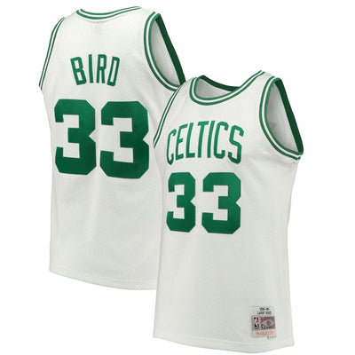 Larry Bird Boston Celtic Mitchell & Ness 1985-86 Hardwood Classic Swingman White Jersey