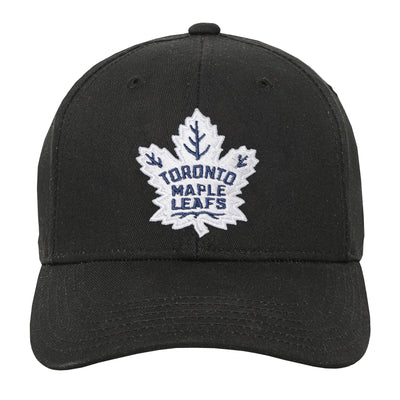 Youth Toronto  Maple Leafs Black Precurve Snapback Hat