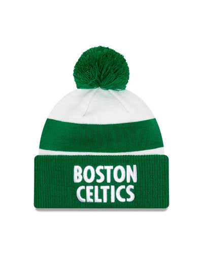 Boston Celtics White Green New Era City Series 20 Pom Knit Toque
