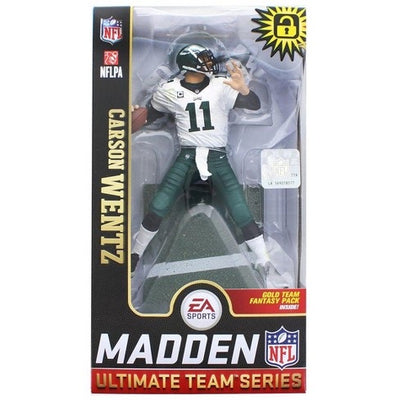 2019 NFL Madden Ultimate Gold Team Philadelphia Eagles Carson Wentz Variant Figure