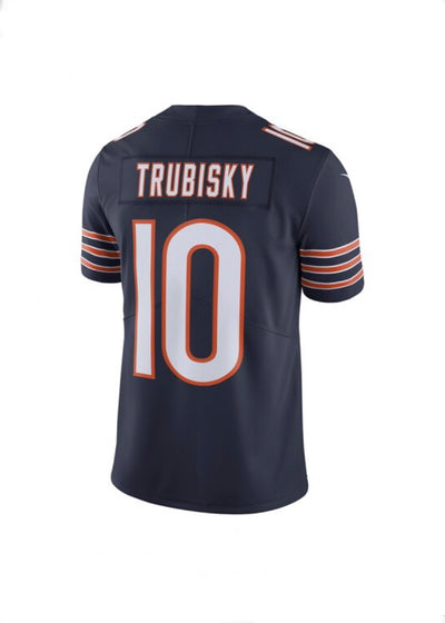 Mitchell Trubisky Chicago Bears Navy Nike Limited Jersey