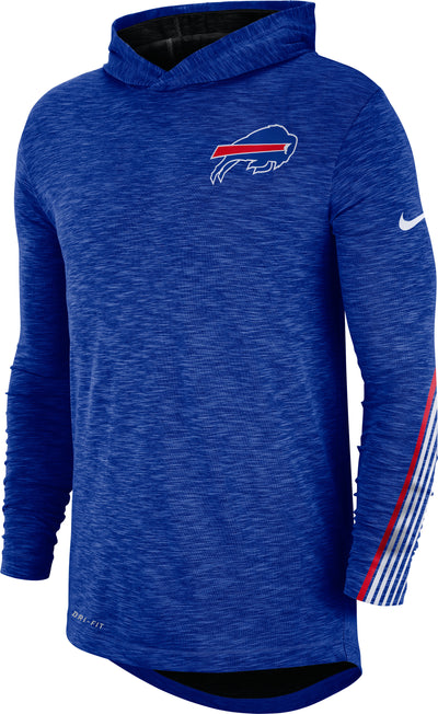 Buffalo Bills Nike Sideline Line of Scrimmage Performance - Long Sleeve Hoodie T-Shirt