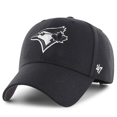 Toronto Blue Jays Black / White Alternate 47 Brand MVP Bullpen Basic Adjustable Hat