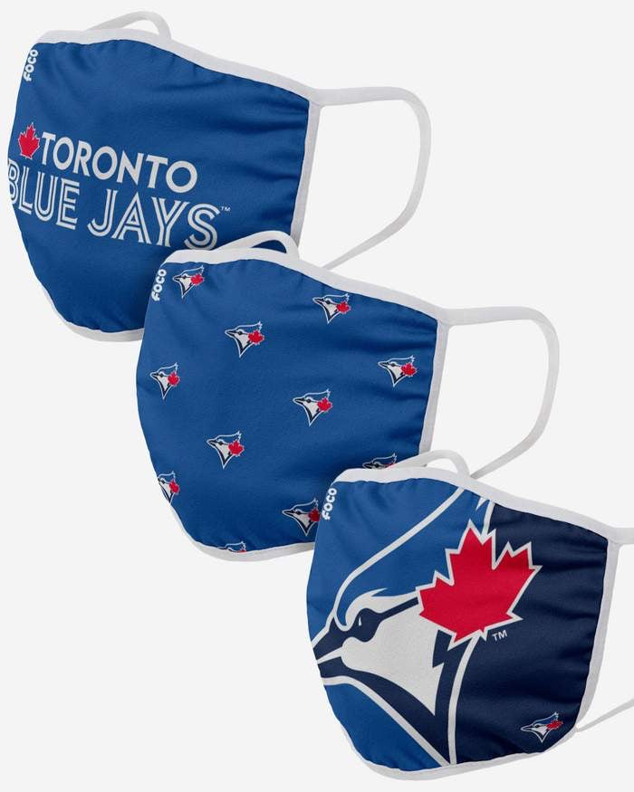 Youth Toronto Blue Jays  FOCO MLB Face Mask Covers 3 Pack
