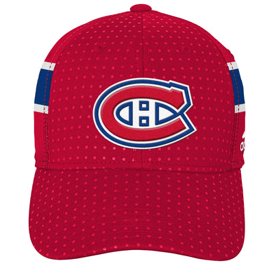 Youth Montreal Canadiens Adidas Red 2017 Draft Flex Hat