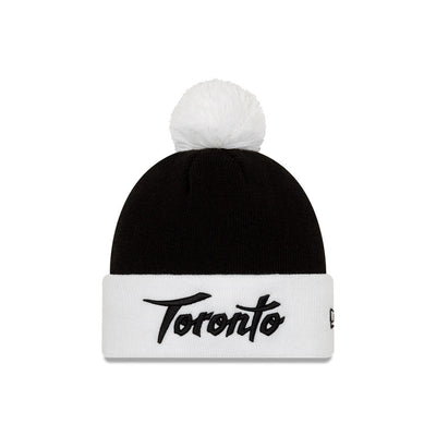Earned Not Given Toronto Raptors Holiday Edition CS19 Black/White New Era Knit Pom Toque