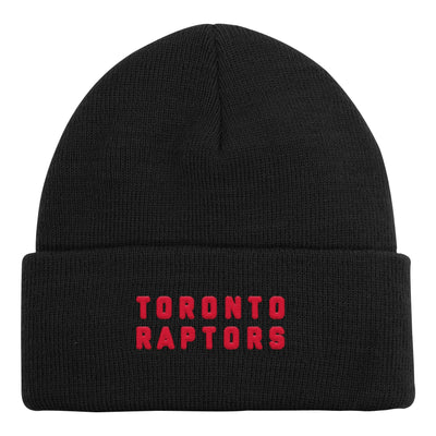 Youth Toronto Raptors Ball Black Cuff Toque