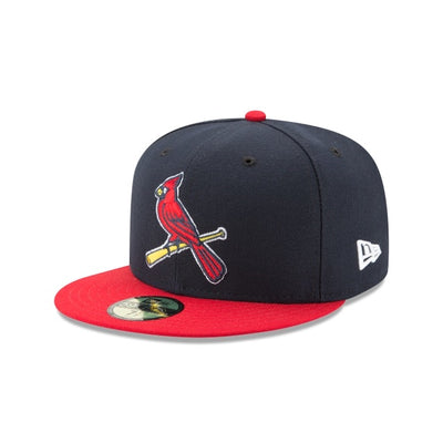 St. Louis Cardinals New Era Navy/Red Authentic Collection On-Field Alternate 2 59FIFTY Fitted Hat