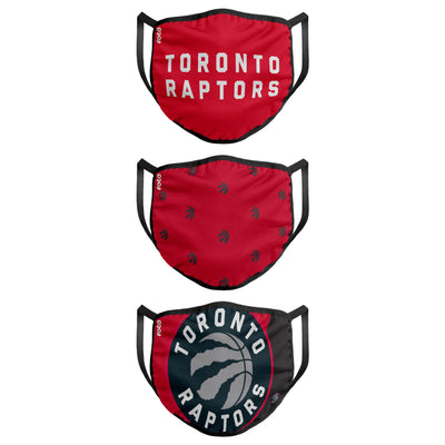 Youth Toronto Raptors FOCO NBA Face Mask Covers 3 Pack