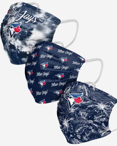 Women's Toronto Blue Jays  Match Day FOCO MLB Face Mask Covers Adult 3 Pack