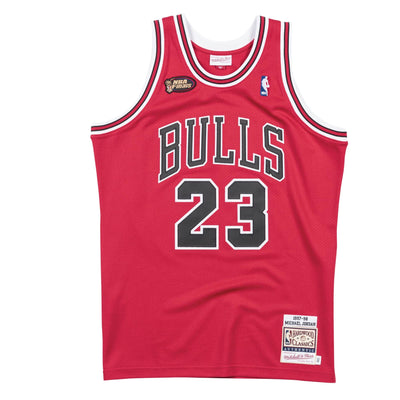 Authentic Michael Jordan Chicago Bulls Road Finals 1997-98 Hardwood Classic Red Jersey