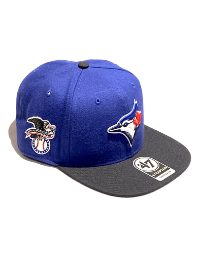 Toronto Blue Jays Sure Shot 2Tone 47 Brand Captain Snapback Hat
