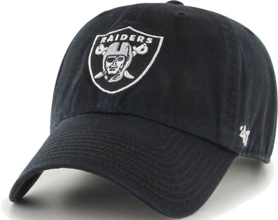 Oakland Raiders Black Clean Up '47 Brand Adjustable Hat
