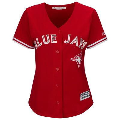 Women's Toronto Blue Jays Majestic Cool Base Red Replica Jersey