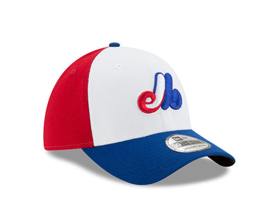 Montreal Expos New Era Cooperstown Collection Team Classic Game White / Royal - 39THIRTY Flex Hat