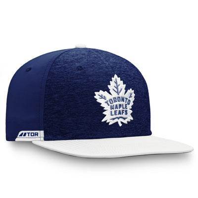 Toronto Maple Leafs Fanatics Brand Heathered Blue/White Authentic Pro Locker Room Snapback Hat