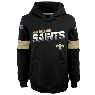 Youth Nike Black New Orleans Saints On-Field Performance - Pullover Hoodie
