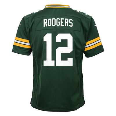 Youth Nike Aaron Rodgers Green Bay Packers - Game Jersey