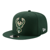 Milwaukee Bucks Team Green New Era NBA 9Fifty Hat