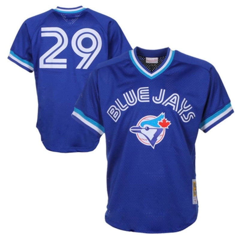 Joe Carter Toronto Blue Jays Mitchell & Ness 1993 Cooperstown Collection Royal Blue Mesh Batting Practice Jersey