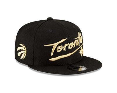 Toronto Raptors New Era Black and Gold City Series 20 Snapback
