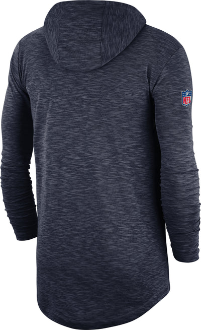 Chicago Bears Nike Sideline Line of Scrimmage Performance - Long Sleeve Hoodie T-Shirt
